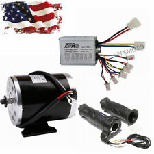 500W 24V Dc Electric Brush Motor + Controller Box +Throttle Grips fit Dirt Bike