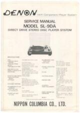 Denon SL-9DA Original Turntable Service Manual