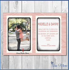 10 PERSONALISED PHOTO ENGAGEMENT PARTY INVITATION CARDS INVITES WITH ENVELOPES
