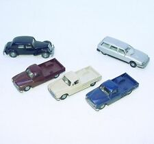 5x Wiking Praliné HO 1:87 CITROEN 15 SIX + CX + PEUGEOT 403 Pick-Up Car Lot RARE