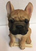 "Sit Up Cute French Bulldog Frenchie Puppy Dog Pet Pal 6.25"" Figurine Statue New"