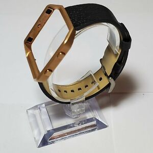 Fitbit Blaze Accessory replacement Black Leather Wrist Band & Frame