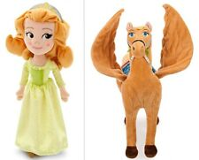 "NWT Disney Plush SAFFRON 16"" Pegasus HORSE & 13"" AMBER Doll from Sofia First"