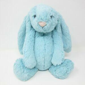 Jellycat medium Bashful Aqua Bunny soft toy plush comforter beanie mint green