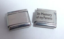 IN MEMORY OF MY PARENTS 9mm Italian Charm + 1x Nomination Classic Link MUM DAD