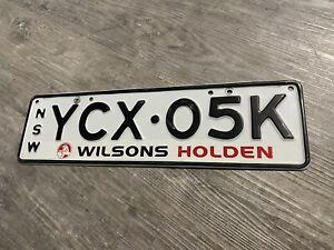 Wilsons Holden Car Dealership Number Plate Licence Plate YCX05K Brockys Number!