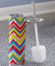 Contemporary Chevron Design Bathroom Toilet Brush And Holder Set Home Decor