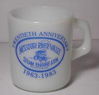 Vintage 1983 MISSOURI RIVER VALLEY STEAM ENGINE 20th Anniversary ADVERTISING MUG