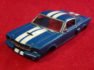 NEW RRR 65 BLUE MUSTANG FASTBACK HO SLOT CAR BODY ONLY AURORA THUNDERJET T-JET