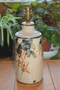 Studio Pottery Lamp Base by Christopher Taylor 2001-2002 Totnes Devon (2.5kg)