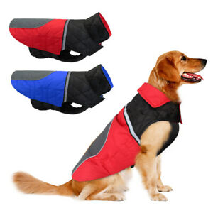 Dog Clothes for Big Dogs Waterproof Winter Coat Reflective Jacket Pitbull S-2XL