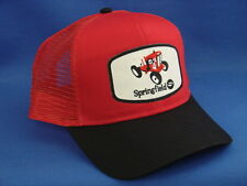 Springfield Garden Tractor Hat - Black / Red - High Crown Trucker