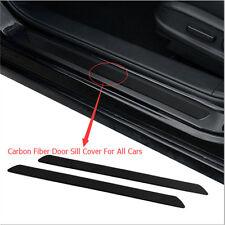 2pcs Car Interior Doorsill Strip Cover Scuff Plate Protect Tape Carbon Fiber New