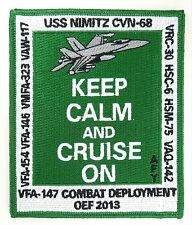 USN VFA-147 COMBAT DEPLOYMENT OEF 2013 KEEP CALM AND CRUISE ON PATCH