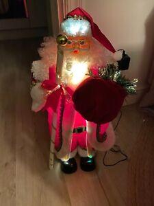 Fibre optic Santa Christmas Light