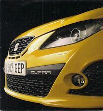 Seat Ibiza Cupra 1.4 TSi 2008-09 UK Market Launch Foldout Sales Brochure