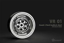 Gmade 1.9 VR01 beadlock wheels (Chrome) (2) GMA70105