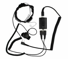 Military Police Throat Mic Air Tube Headset for Kenwood Puxing Wouxun Baofeng