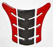 Red & Real Carbon Fiber tank Pad Protector fits Ducati Monster 696 795 796 1100