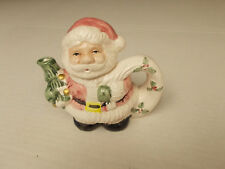 "Santa Mini Tea Pot, 4 1/2"" tall"