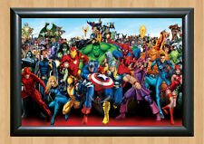 Marvel Heoreos Comics Characters Poster Photo Print Picture A4 297x210mm