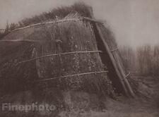 1900/72 Photogravure NATIVE AMERICAN INDIAN Architecture Art EDWARD CURTIS 11x14