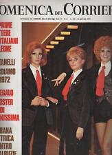 DOMENICA DEL CORRIERE 1972 poster centrale CANZONISSIMA
