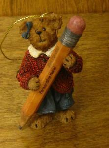 "Boyds Resin Ornament #257121 TEACHER ORNAMENT, 3.5"" high, NIB From Retail Store"
