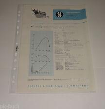 Typenblatt / Technische Daten Sachs 50 / 2 MA 2,3 PS Stand 1963