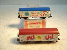 MES-23510    Arnold 0050015 SpN 2 St. Güterwagen K2 Head K-NEM OVP,