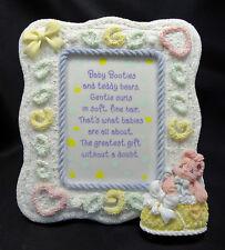 Enesco Precious Moments 868272 Bunny Baby Booties Plaque Free Usa Shipping