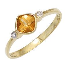 Citrin Echtschmuck-Ringe aus Gelbgold