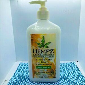 Hempz Fresh Fusions Extract Citrine Crystal & Quartz Herbal Moisturizer, 17oz