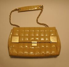 Auth CHANEL Yellow Patent Leather Chain CC Flap Bag