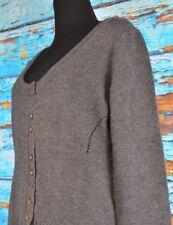 Laila Azhar Women's Cardigan Size Large Merino Wool Button Down Gray Modest Cute