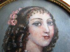 ANTIQUE OLD FRENCH XVIII  walnut snuff  BOX PAINTING MINIATURE LID