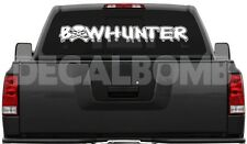 "Bowhunter Skull ""Outline"" Decal Sticker Hunt Diesel Turbo UTV ATV Cross Bow"