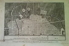 SIR CHRISTOPHER WREN PLAN, antique copperplate engraving HARRISON'S LONDON c1775