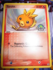 POKEMON NEUF PROMO TORCHIC 69/106 EMERALD LOGO WIZARD WORLD CHICAGO MINT NEUF