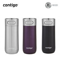New Contigo Luxe Autoseal Travel Mug 354ml Coffee Flask BPA Free Thermos Save