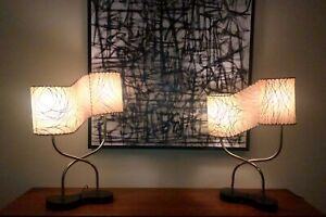 Pair 1950's  Retro MAJESTIC LAMPS Vintage  FREE SHIPPING!