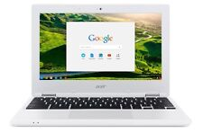 Google Chrome Computer Laptop White Acer Chromebook CB3-131-C3SZ 11.6-Inch