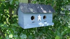 Bird House Two-Hole Amish Handmade Reclaimed materials