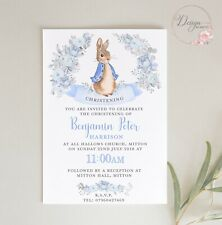 Peter Rabbit PERSONALISED CHRISTENING INVITES - Pack of 8 - BABY BOY