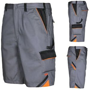 Arbeitshose Arbeitsshorts Shorts kurze Hose Sommer Arbeitskleidung Grau Gr.46-60