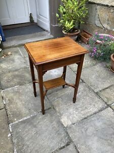 Edwardian mahogany two tiered rectangular occasional or side table