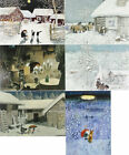 6 TOMTE POSTCARDS Swedish Christmas HARALD WIBERG Made In Sweden NEW Lot O