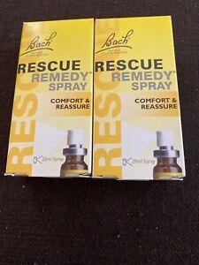 2 X Bach Rescue Remedy Spray  - 20ml