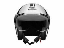 Genuine Royal Enfield Thick And Thin Stripes Chrome Helmet - Express Shipping