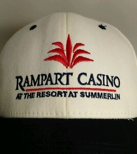 Rampart Casino Summerlin Las Vegas Flexfit Baseball Cap Hat S/M New With Tags